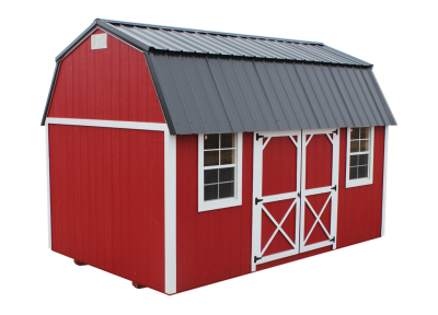 Lofted side barn portable building in Lakeland, Florida